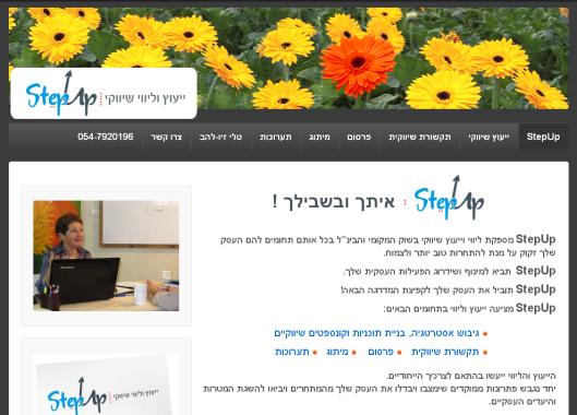 ייעוץ וליווי שיווקי : StepUp