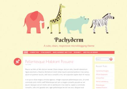 Pachyderm - A cute, clean, responsive microblogging theme