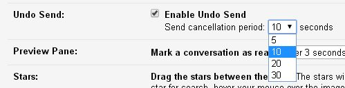 undo gmail settings